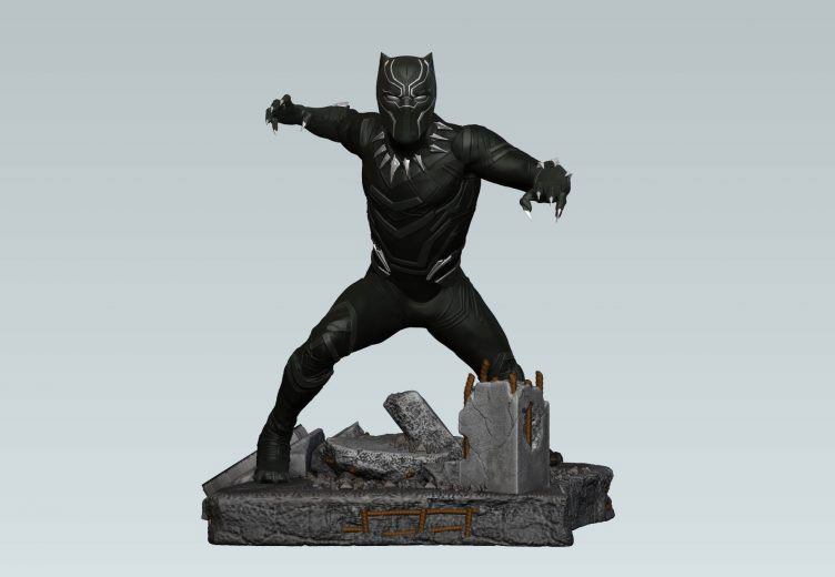 black-panther-finders-keypers-statue