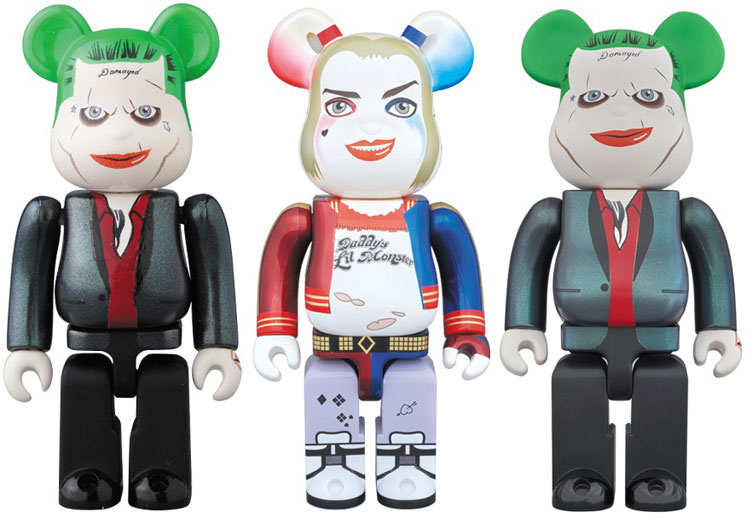 suicide squad the joker and harley quinn bearbrick vinyl. Black Bedroom Furniture Sets. Home Design Ideas