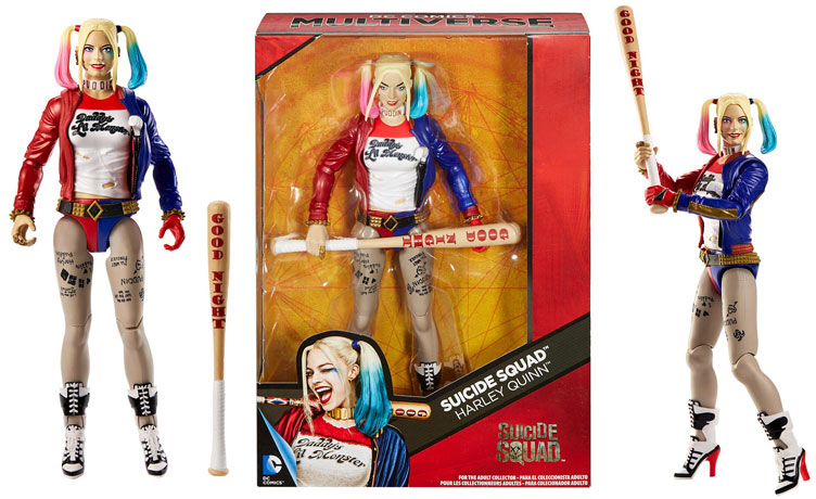 D.C COMICS MULTIVERSE SUICIDE SQUAD SET OF 6 ACTION FIGURES NEW Harley Joker,