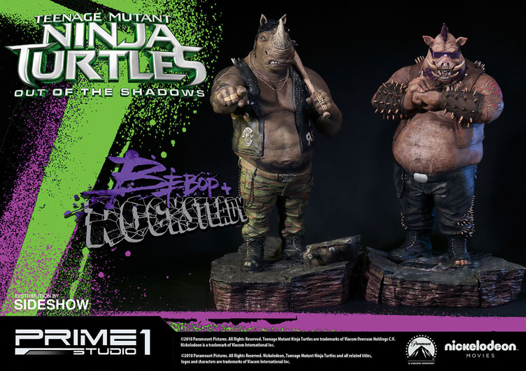 tmnt-out-of-the-shadows-bebop-and-rocksteady-statues-prime-1-studio-1