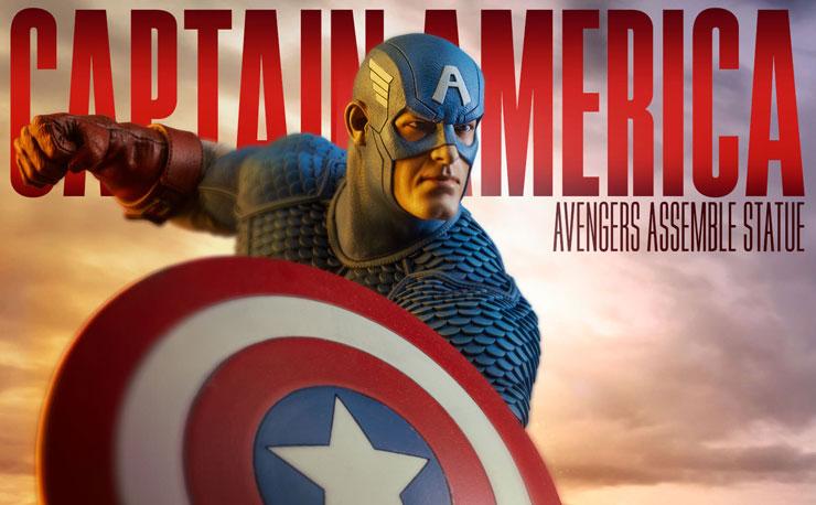 sideshow-captain-america-avengers-assemble-statue