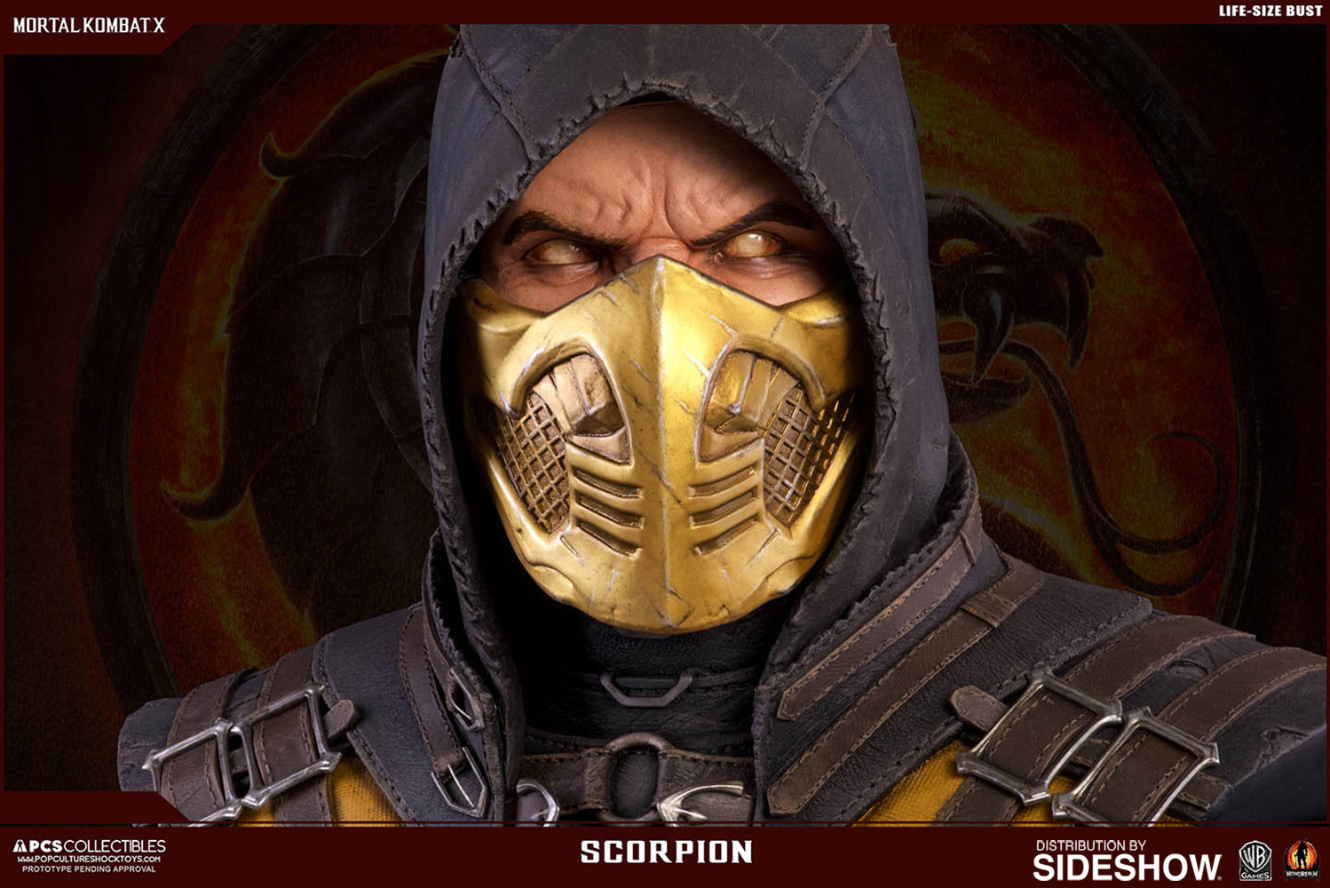 Mortal Kombat X Scorpion Life Size Bust By Pop Culture Shock