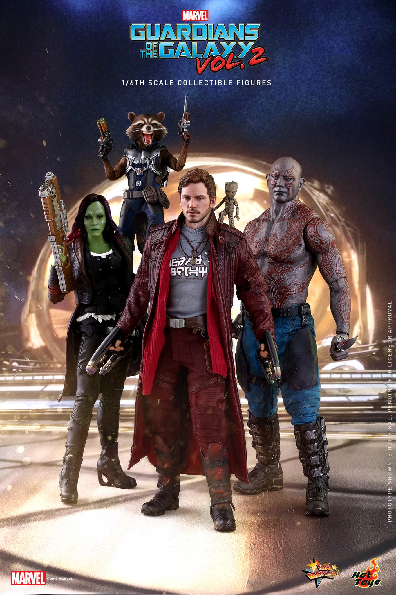 Guardians Of The Galaxy Vol 2 Figures By Hot Toys