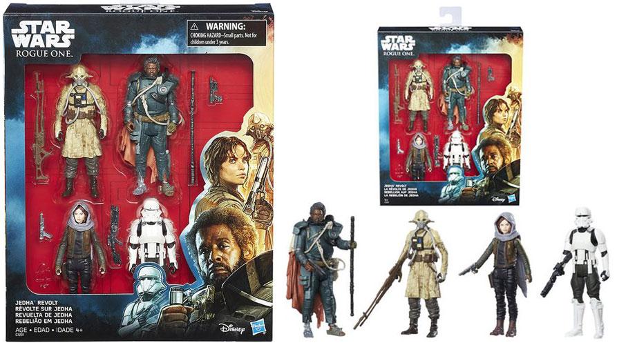 Star Wars Rogue One jedha révolte Action Figure Set Boîtier Endommagé