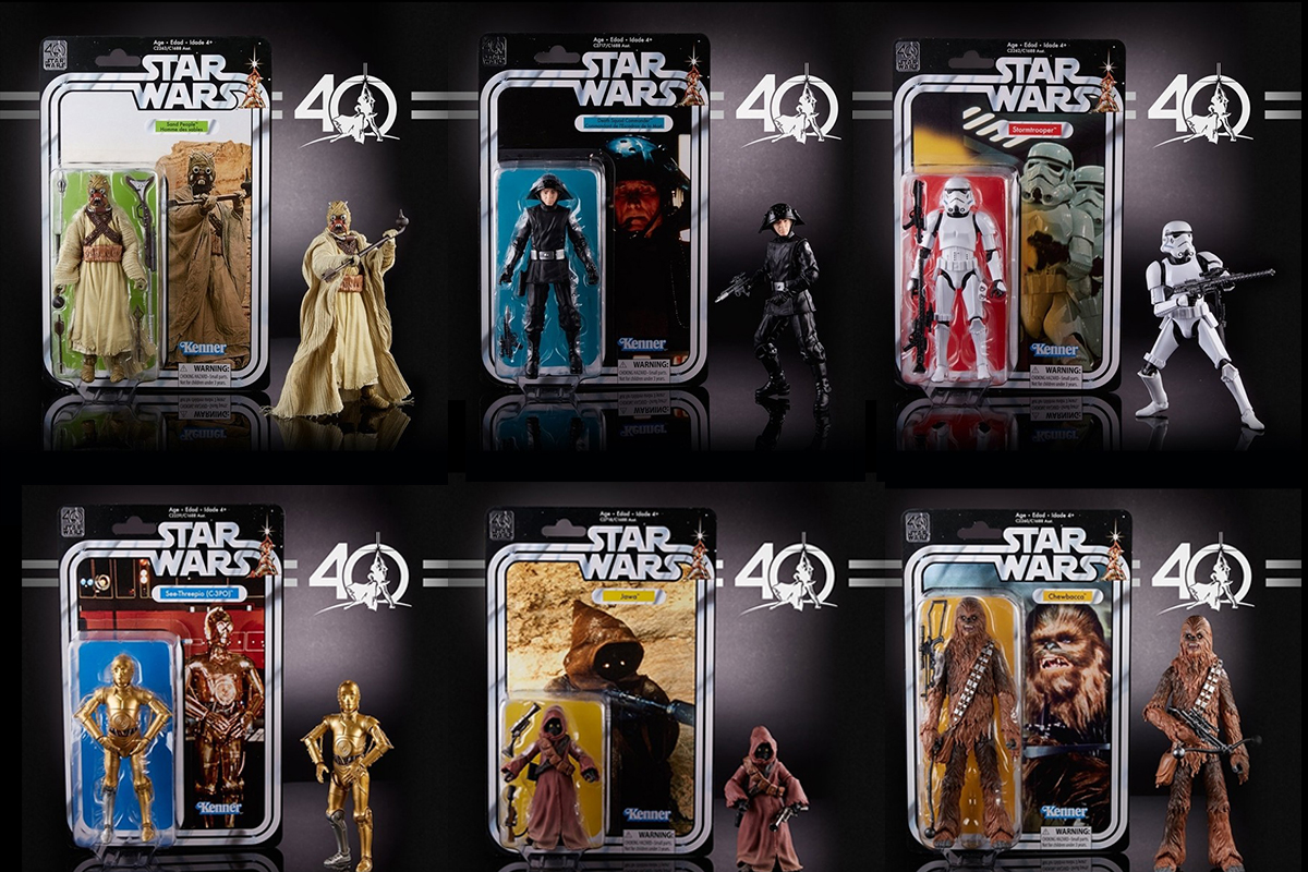 Star Wars 40th Anniversary Black Series 6 Inch Figures