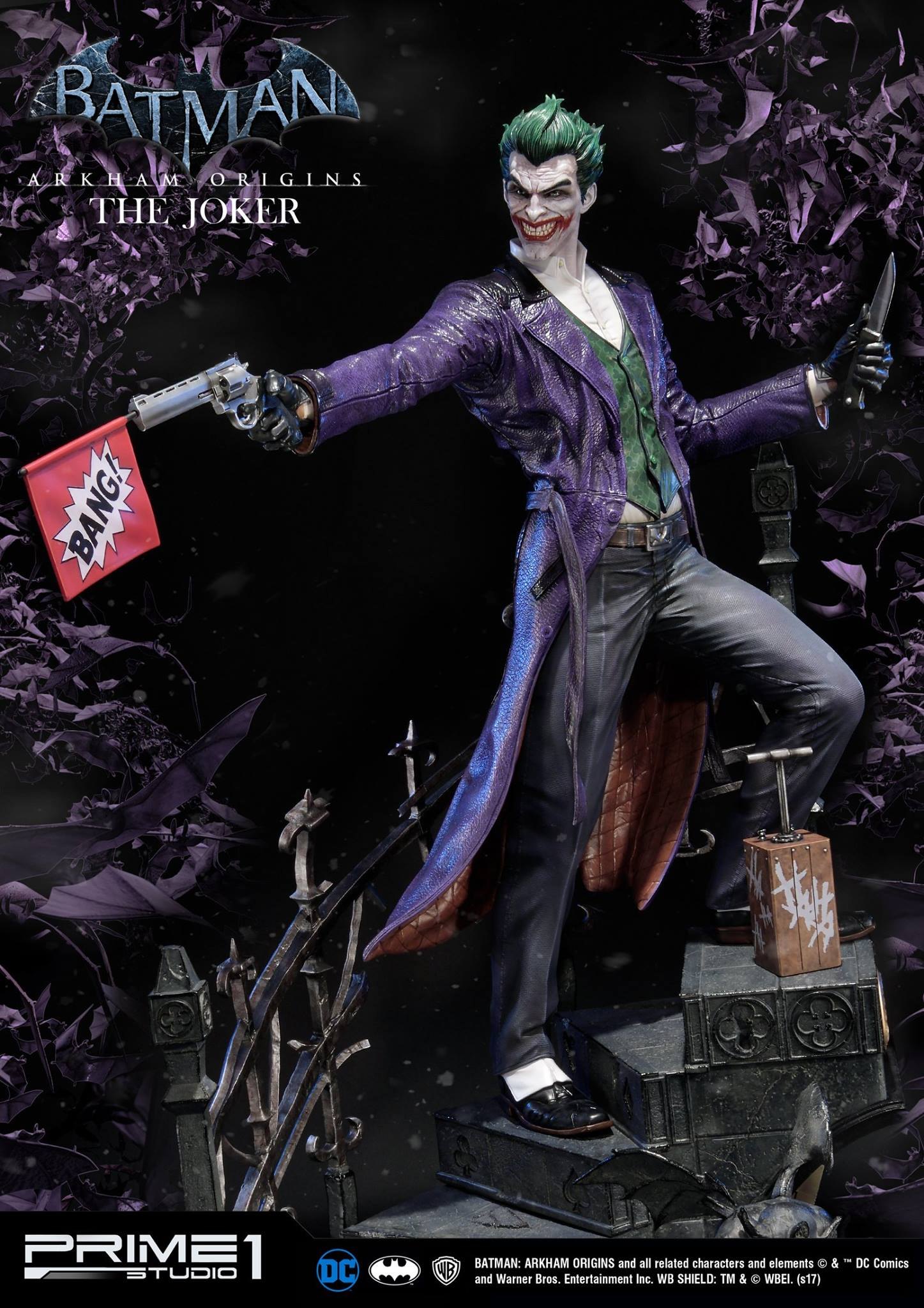 Batman arkham origins the joker statue by prime 1 studio at sideshow and there are only 1000 of these made with just 800 of the exclusive version available so make your move if you want to add this joker voltagebd Image collections