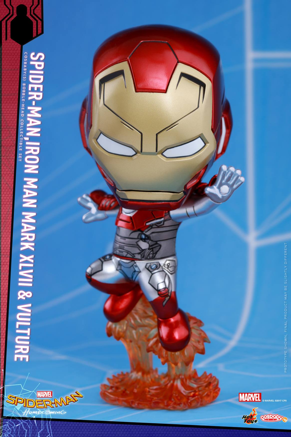 Spider Man Homecoming Cosbaby Bobble Head Figures By Hot