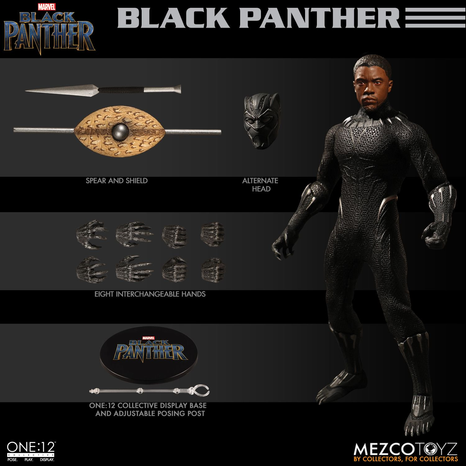 black panther mezco one 12 figure 10