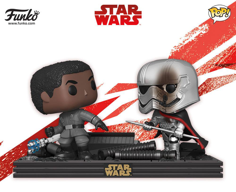 star-wars-the-last-jedi-funko-pop-finn-and-phasma-movie-moments-figures