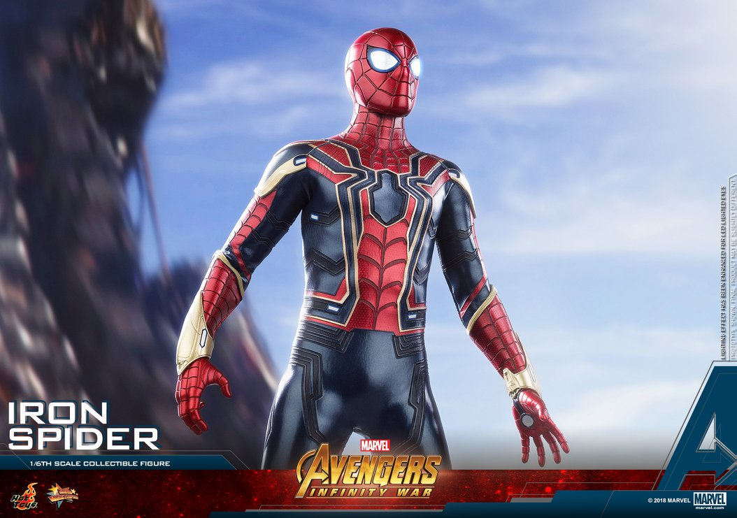 Parts San Jose >> Hot Toys Avengers Infinity War Iron Spider Figure | ActionFiguresDaily.com