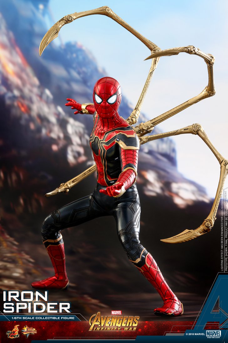 Hot Toys Avengers Infinity War Iron Spider Figure