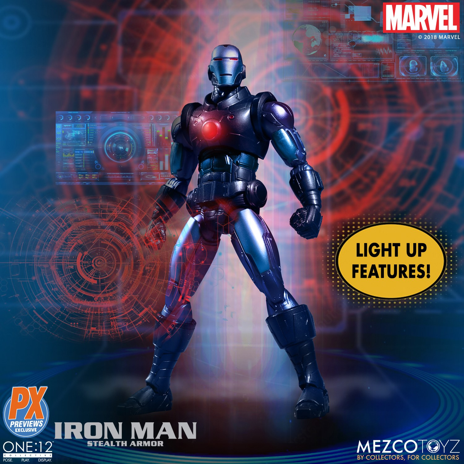 Mezco-One12-Previews-PX-Exclusive-Iron-Man-2