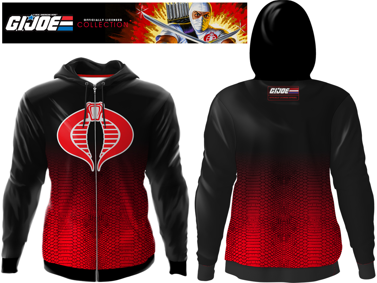 Commander Symbol Destro GI Joe Action COBRA LOGO SWEATSHIRT SWEATER PULLOVER