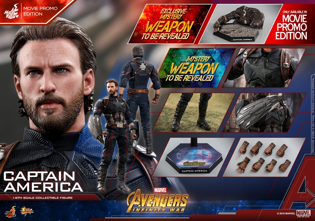 Hot Toys Avengers Infinity War Captain America Figure