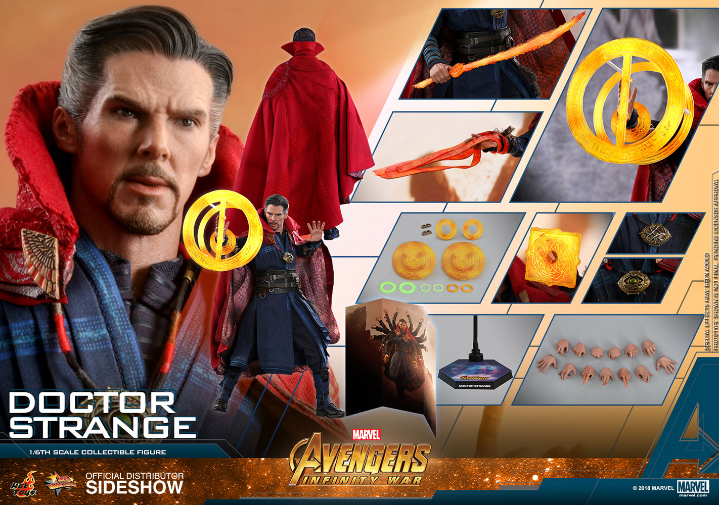 Hard-Working The Avengers Super Hero Marvel Doctor Strange Iron Studios Figure Action Pvc Collectible Model Toy Fashionable Patterns Action & Toy Figures