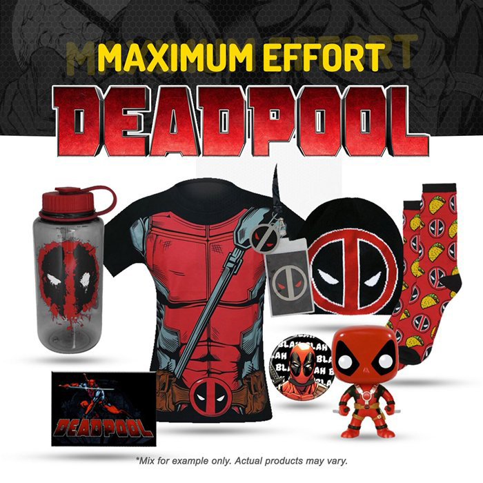 Deadpool Herobox Mystery Box With Toy Collectibles And