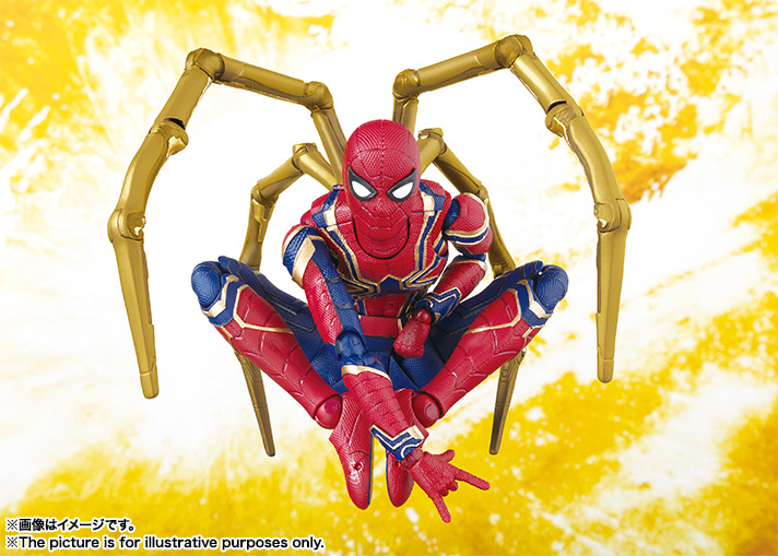 iron spider sh figuarts action figure 10
