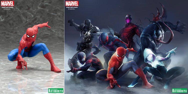 kotobukiya-spider-man-statues