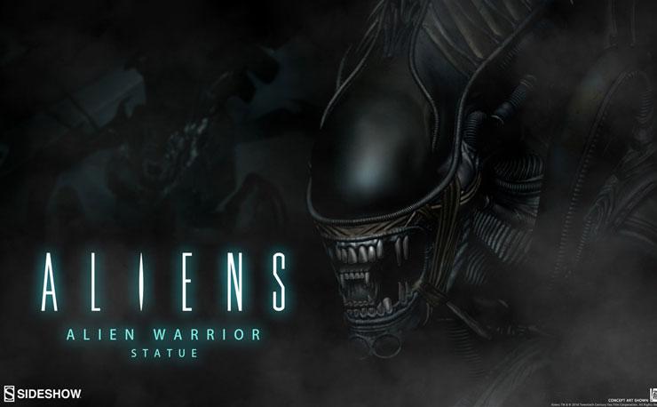 alien-warrior-statue-sideshow