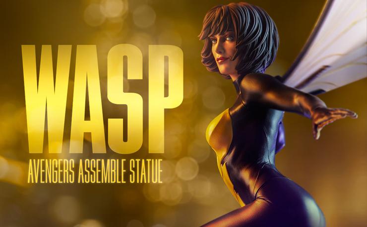 wasp-avengers-assemble-statue-sideshow