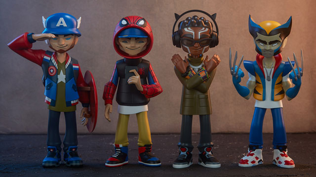 unruly-industries-kano-marvel-superhero-figures-in-sneakers