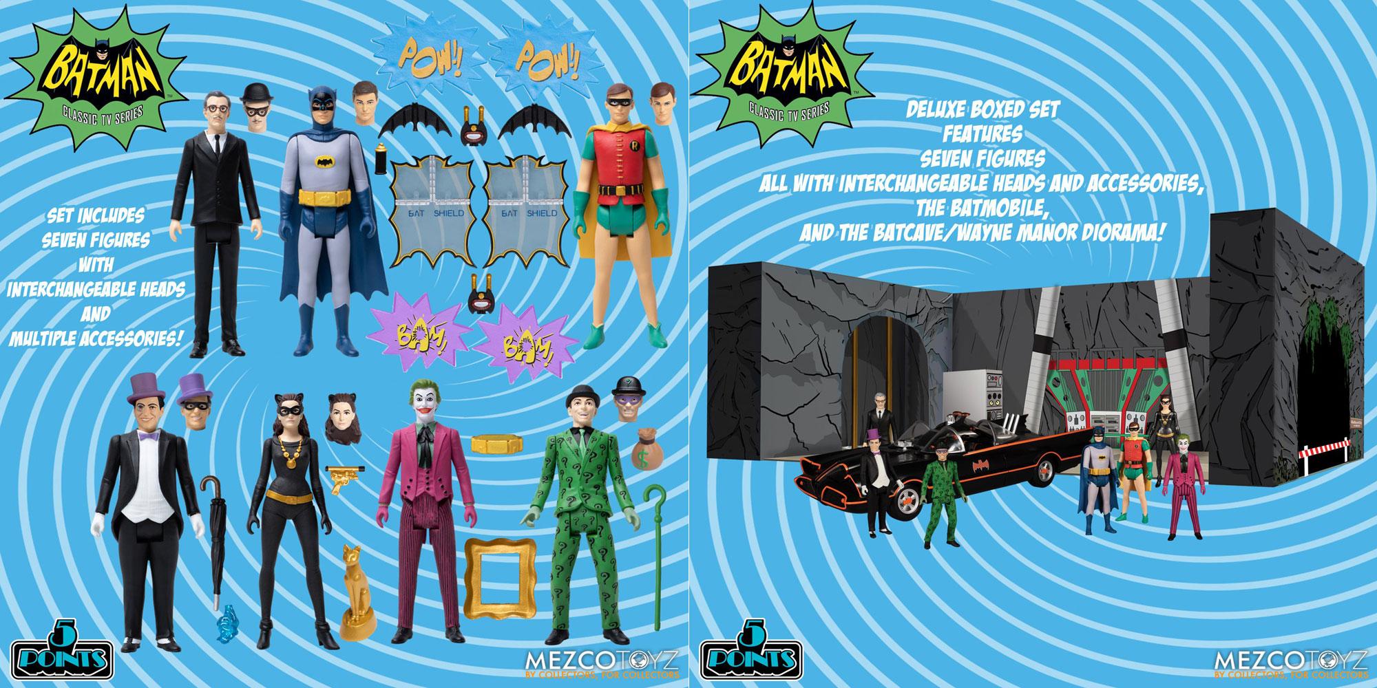 mezco-5-points-batman-1966-action-figure-bat-cave-box-set
