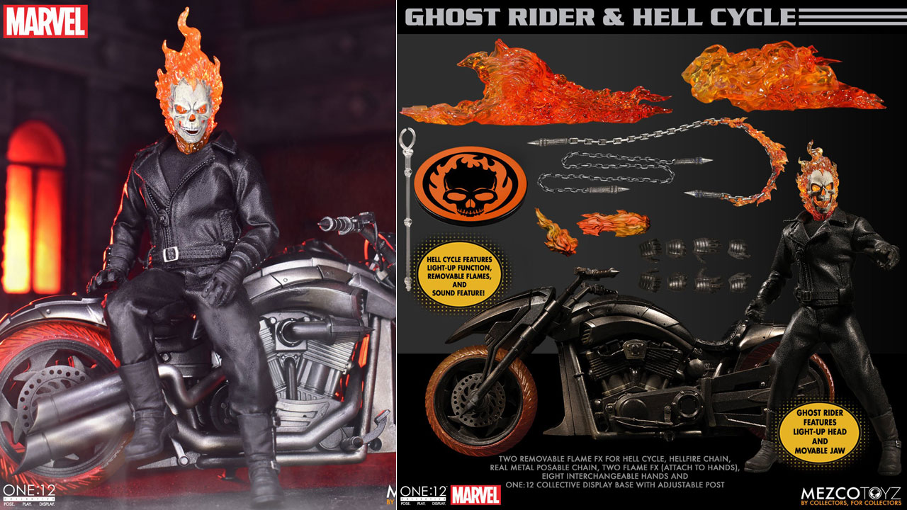 mezco-ghost-rider-figure-and-hell-cycle-set-preorder-